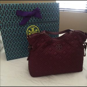 Quilted Tory Burch Marion Diaper Bag